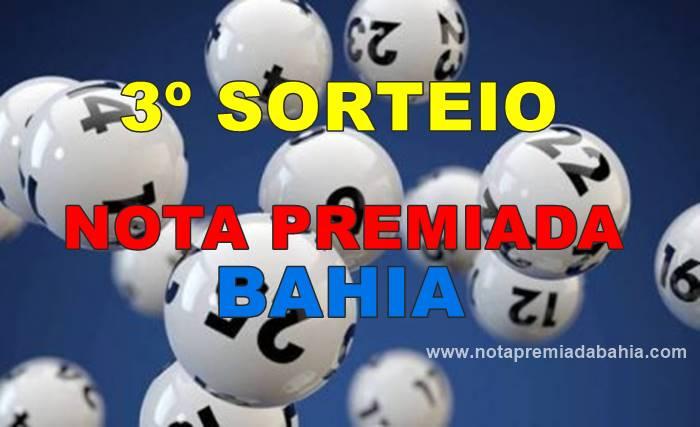 3º sorteio nota premiada Bahia