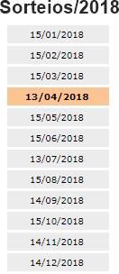 datas sorteios nfp 2018