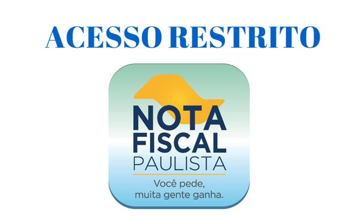 acesso restrito nota fiscal paulista
